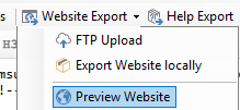 Create preview web page in DA-HelpCreator
