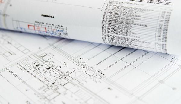 Technische Pläne einer Dokumentation